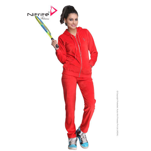 Nitrite Womens Lifestyle Velour Golden Zip Dance Track Suit