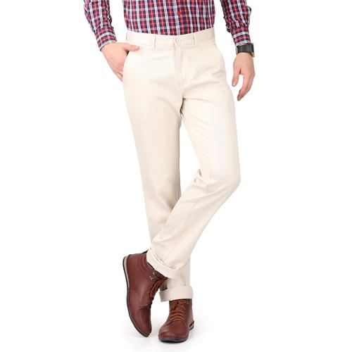 French Republic Stone Plain Slim Trouser