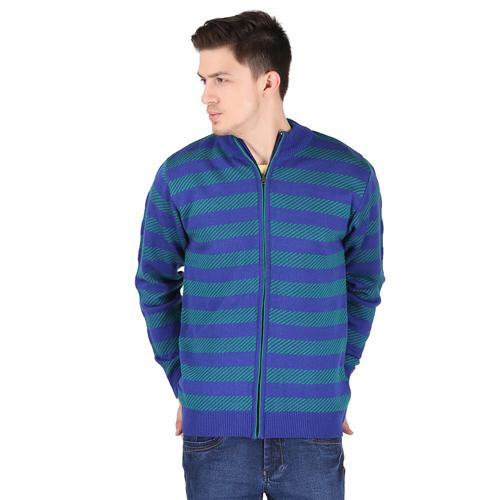 Freakn Royal Blue Plain Regular Fit Pullover