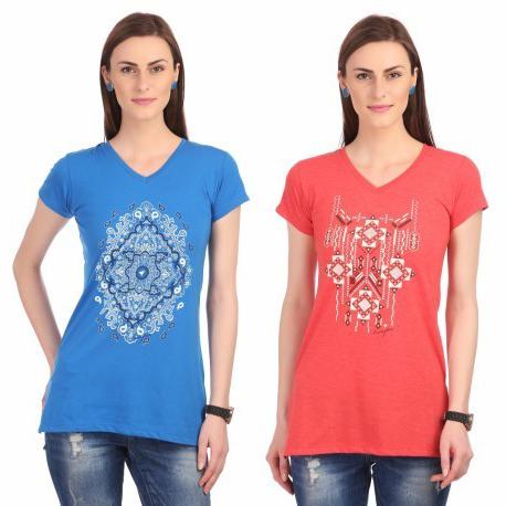 Women V Neck T Shirt