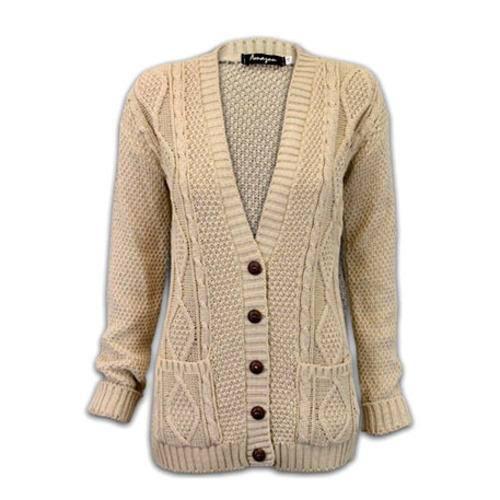Ladies Woolen Button Cardigans