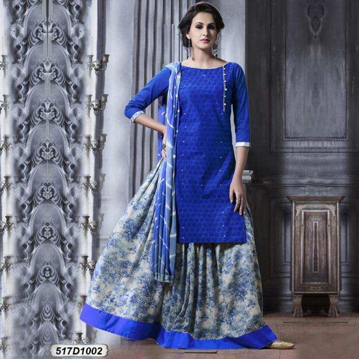 Refreshing Blue Colored Designer Salwar Suit