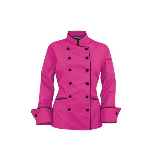 Chef Coat for Women Full Sleeve with Pink Colour