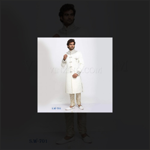 Ethnic Cream Wedding Sherwani