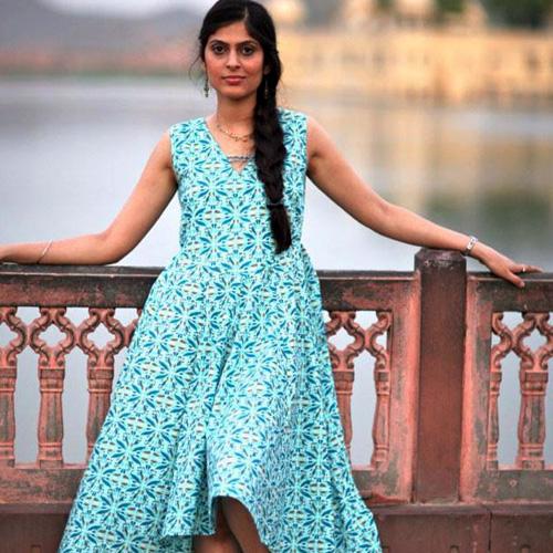 Kameez Dress in Jal Mahal Print