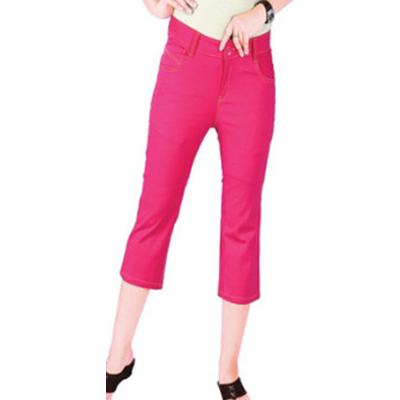 Regular Fit Pink Womens Capri