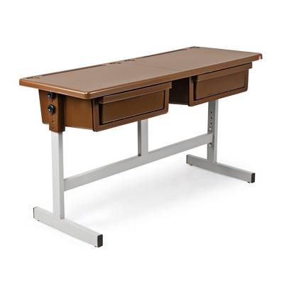 Cello School Mate Kids Double Desk (Pearl Brown)