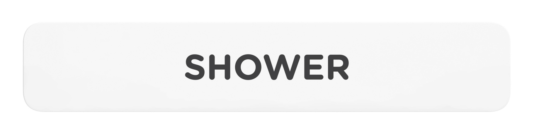 Shower_Sign_Door_Wall Mount Sign_8x1.5_6mm Thick Solid Surface Sign with Inlay Resins_Self Adhesive