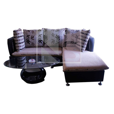 CORNER SOFA SET WITH CENTER TABLE