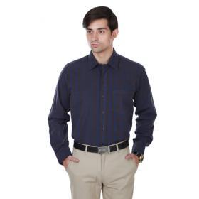 Cotton County Premium Black Check Regular Fit Formal Shirts