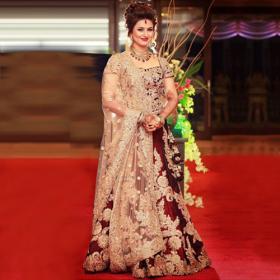 Divyanka Tripathi Banglori Silk And Satin Party Wear Lehenga Choli In Maroon Colour NC4393