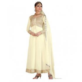 White Ankle Length Anarkali Suit