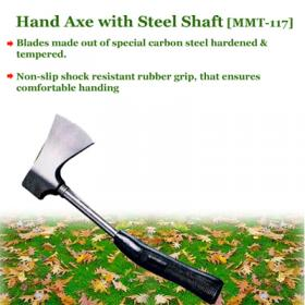 Hand Axe with Steel Shaft