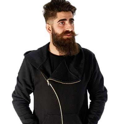 Men Tilled Zip Stylish Hooded Winter Jacket