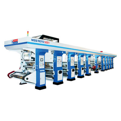 GRAVURE PRESS FOR PHARMA PRINTING INDUSTRY (HSL + MULTI COLOR PRINTING COMBINATION)